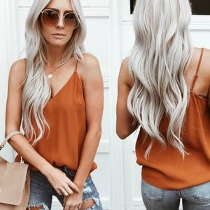 ➳ Boutique Rust Pumpkin Spice Tank/Cami